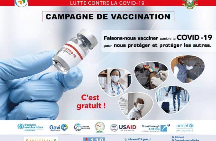 Campagne de vaccination à la CoVid-19 en Côte d'Ivoire débutée le 1er mars – LFCI N°25 du 25/03/2021